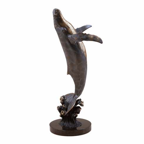 Large Humpback Whale Sculpture by SPI Home