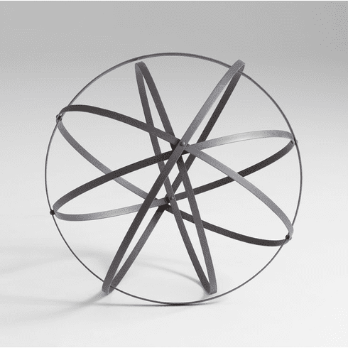 Large Iron Sphere Decor by Cyan Design