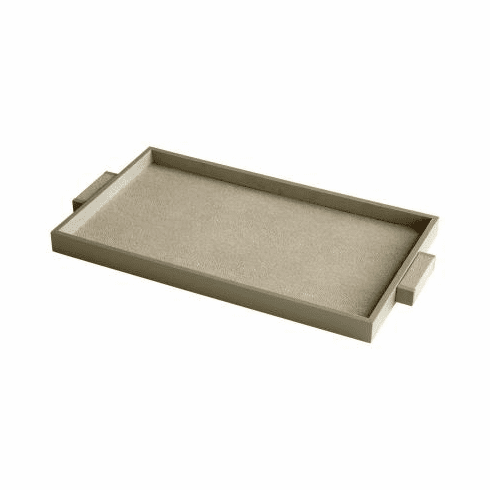 Large Leather and Wood Melrose Tray by Cyan Design