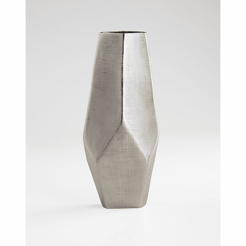 Large Nickel Celsus Vase by Cyan Design