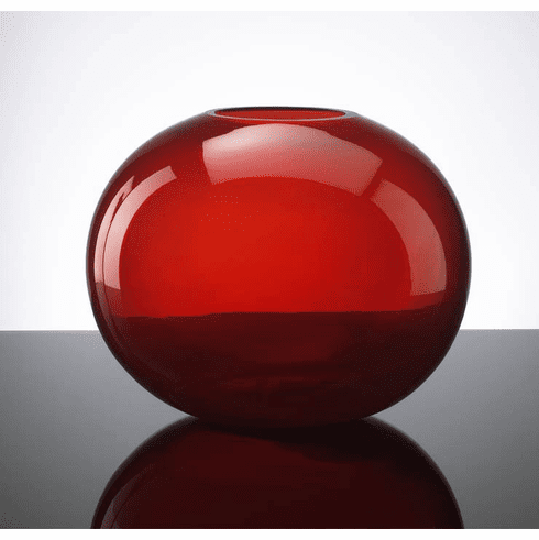Large Pod Red Glass Vase by Cyan Design
