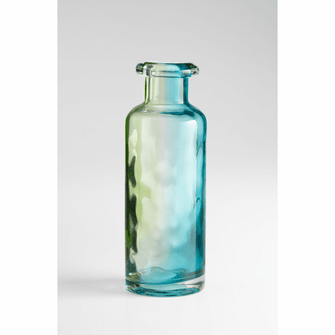 Large Rigby Blue Green Art Glass Vase by Cyan Design