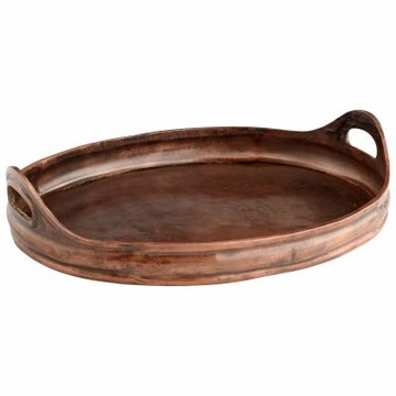 Large Sepia Vintage Copper Finish Tray by Cyan Design