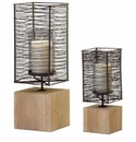 Large Vail Contemporary Candleholder by Cyan Design