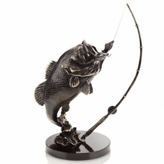 Largemouth Bass Sculpture by SPI Home