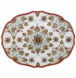 Le Cadeaux Allegra Red 22X17 Oval Tray
