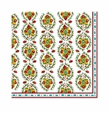 Le Cadeaux Allegra Red Patterned Paper Dinner Napkin 15.75 X 15.75 (Pack Of 20)