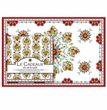 Le Cadeaux Allegra Red Placemats (20) and Dinner Napkins (20pk) Set