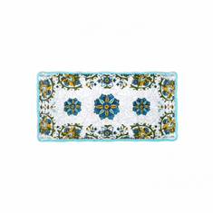 Le Cadeaux Allegra Turquoise Biscuit Tray