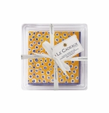 Le Cadeaux Benidorm Gift Set Patterned Paper Cocktail Napkins with Acrylic Holder - 30 Pack