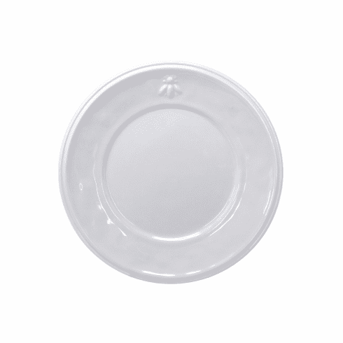 Le Cadeaux Bistro Bianco Dinner Plate 11 With Embossed Bee Design