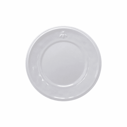 Le Cadeaux Bistro Bianco Salad Plate 9 With Embossed Bee Design