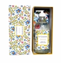 Le Cadeaux Boxed Gift Set Of Liquid Hand Wash 16.6 Oz/473 Ml With Matching Tea Towel - Rosemary Mint (Madrid White)