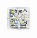 Le Cadeaux Cocktail Napkins In Acrylic Holder Gift Set With Ribbon And Tag (Pack Of 30) Palermo