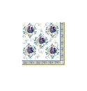 Le Cadeaux Florence Patterned Paper Cocktail Napkin 10 X 10 (Pack Of 20)