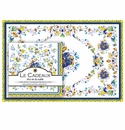 Le Cadeaux Florence Placemats (20) and Dinner Napkins (20pk) Set