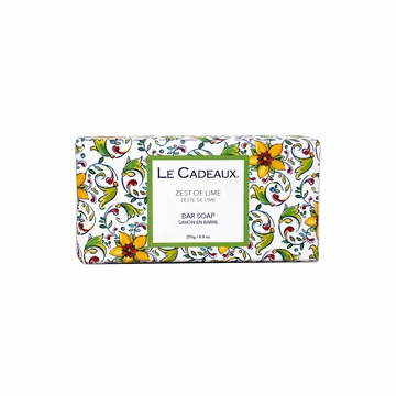 Le Cadeaux Fresh Milled Bar Soap 8.8 Oz/250 Gm. Zest Of Lime