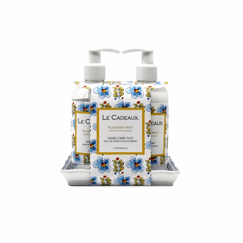 Le Cadeaux Hand Wash And Hand Cream (8 Oz Ea) Duo Gift Set Rosemary Mint