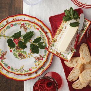 Le Cadeaux Holiday Noel Dinnerware Collection