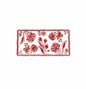 Le Cadeaux Jardin Red Biscuit Tray