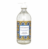 Le Cadeaux Liquid Hand Wash In Decorative Glass Bottle 16 Fl. Oz/473 Ml (Benidorm) Fresh Sicilian Lemon