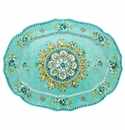 Le Cadeaux Madrid Turquoise 22X17 Oval Tray