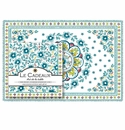 Le Cadeaux Madrid Turquoise Placemats (20) and Dinner Napkins (20pk) Set