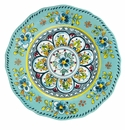 Le Cadeaux Madrid Turquoise Dinner Plate