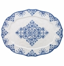 Le Cadeaux Moroccan Blue 22X17 Oval Tray