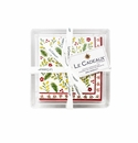 Le Cadeaux Noelle  Cocktail Napkins (30pk) and Acrylic Holder Gift Set