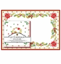Le Cadeaux Noelle Placemats (20) and Dinner Napkins (20pk) Set
