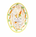 Le Cadeaux Oval Serving Platter With Servers And Matching Recipe Tea Towel Gift Set Maple Glazed Carrots
