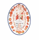 Le Cadeaux Oval Serving Platter With Servers And Matching Recipe Tea Towel Gift Set Tomato Salad