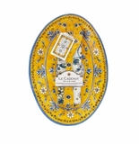 Le Cadeaux Oval Serving Platter With Servers And Matching Tea Towel Gift Set Benidorm