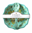 Le Cadeaux Salad Bowl And Servers Gift Set Madrid Turquoise