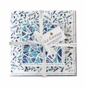 Le Cadeaux Santorini Gift Set Patterned Paper Cocktail And Dinner Size Napkins W/ Ribbon 20Pk