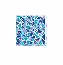 Le Cadeaux Santorini Patterned Paper Cocktail Napkin 10 X 10 20Pk