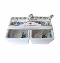 Le Cadeaux Snack Bowl And Spoon (2) Gift Set Madrid White