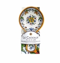 Le Cadeaux Spoon Rest With Matching Tea Towel Gift Set Capri