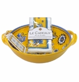 Le Cadeaux Two Handle Bowl With Matching Tea Towel Gift Set Benidorm