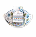 Le Cadeaux Two Handle Bowl With Matching Tea Towel Gift Set Madrid White