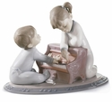 Lladro First Melodies - Kids with Piano Figurine