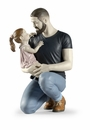 Lladro In Daddys Arms Figure