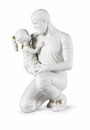 Lladro In Daddys Arms (White-Gold) Figure