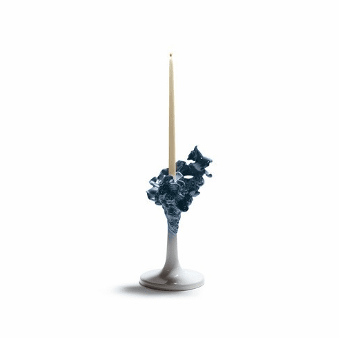 Lladro Naturofantastic Single Candle Holder Blue