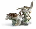 Lladro Sea Turtles Porcelain Figurine with Base