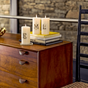 Lucid Florentine Alphabet Initial Candle Collection