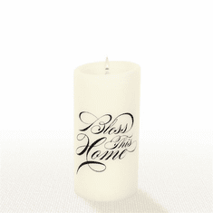 Lucid Liquid Candles - 3x6 Bless This Home Natural Pillar Candle