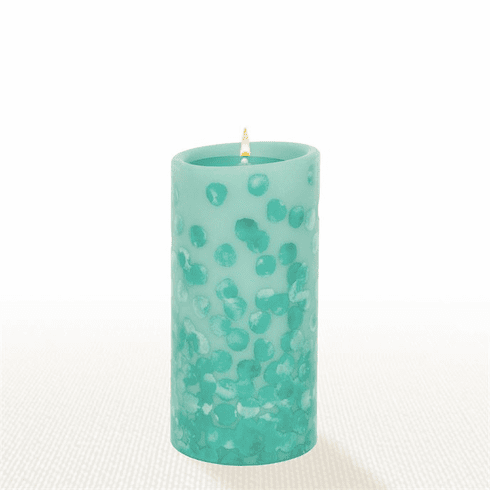Lucid Liquid Candles - 3x6 Dotty Azure Pillar Candle
