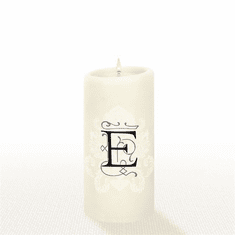Lucid Liquid Candles - 3x6 Florentine E Natural Pillar Candle